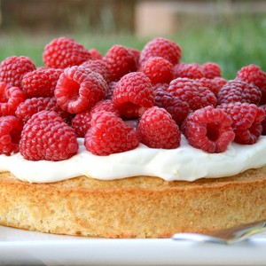 Lemon and Raspberry Summer Cake