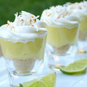 Coconut Lime Dessert Shots