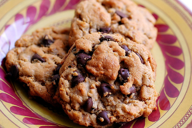Peanut Butter-Toffee Chocolate Chip Cornflake Cookies