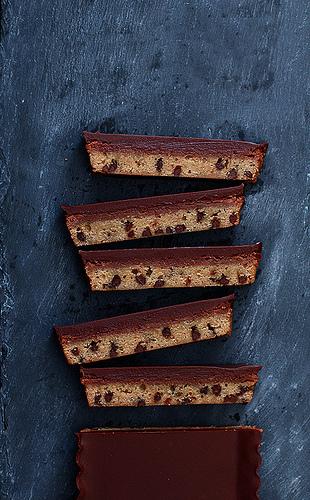 Chocolate Chip Nutella Cheesecake Bars