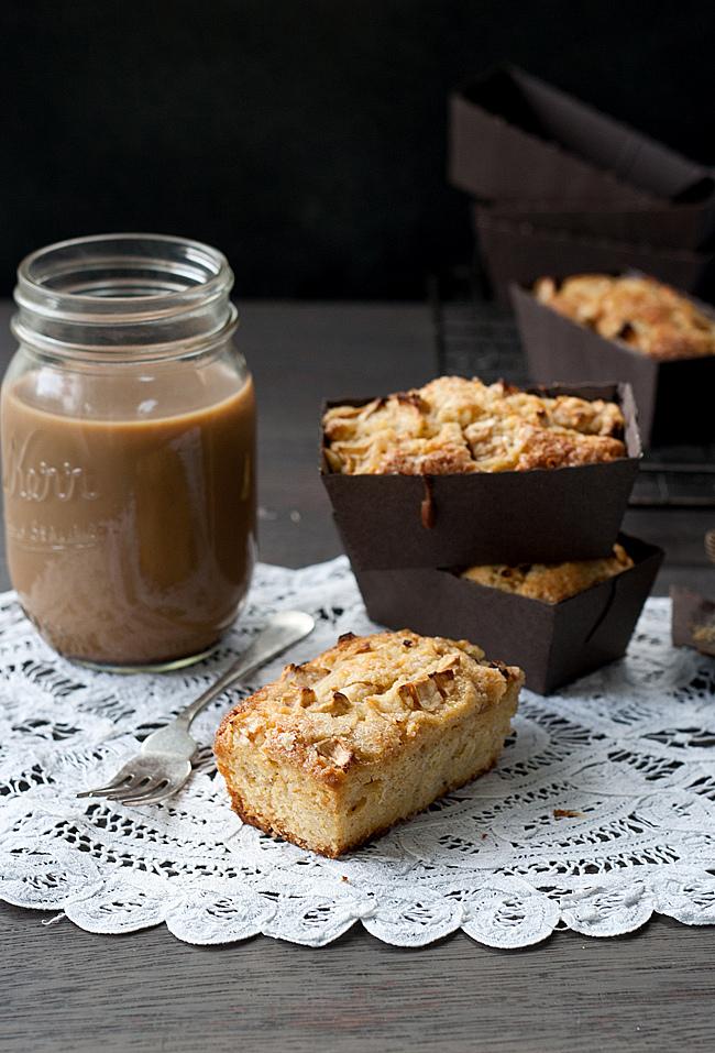 Individual Wholegrain Apple Ginger Breakfast Cakes