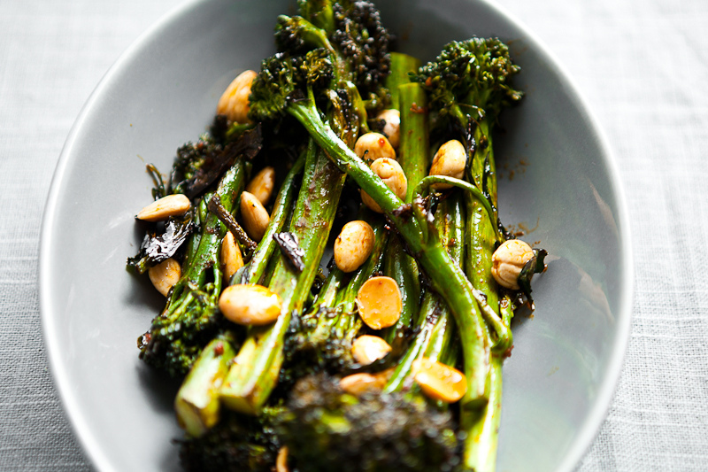 Roast Broccolini with Smoked Paprika Vinaigrette