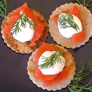 Buckwheat Blinis with Smoked Salmon