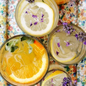 Orange and Sage and Lemon and Lavendar Vodka Tonic