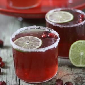 Cranberry Lime Sparkler