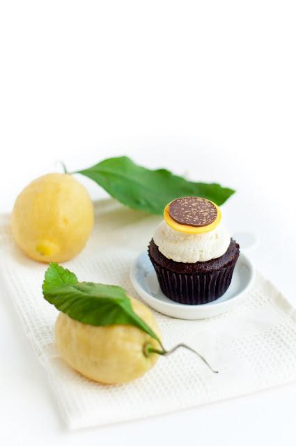 Chocolate and Lemon Mascarpone Cupcakes