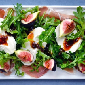 Fig, Prosciutto and Burrata Cheese Salad