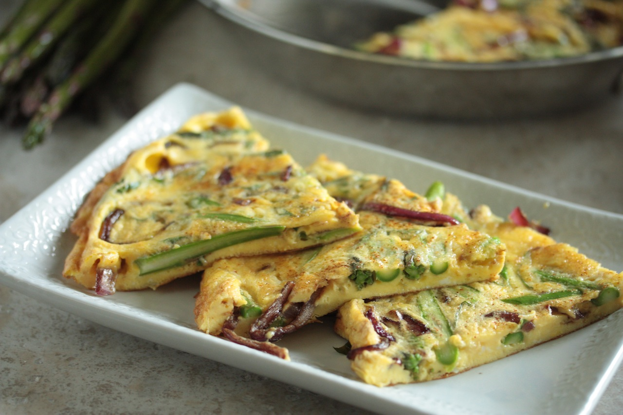Asparagus and Balsamic Glazed Onion Frittata