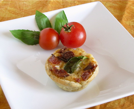 Bacon Tomato Basil Tarts
