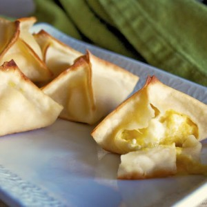 Acorn Squash and Feta Wontons