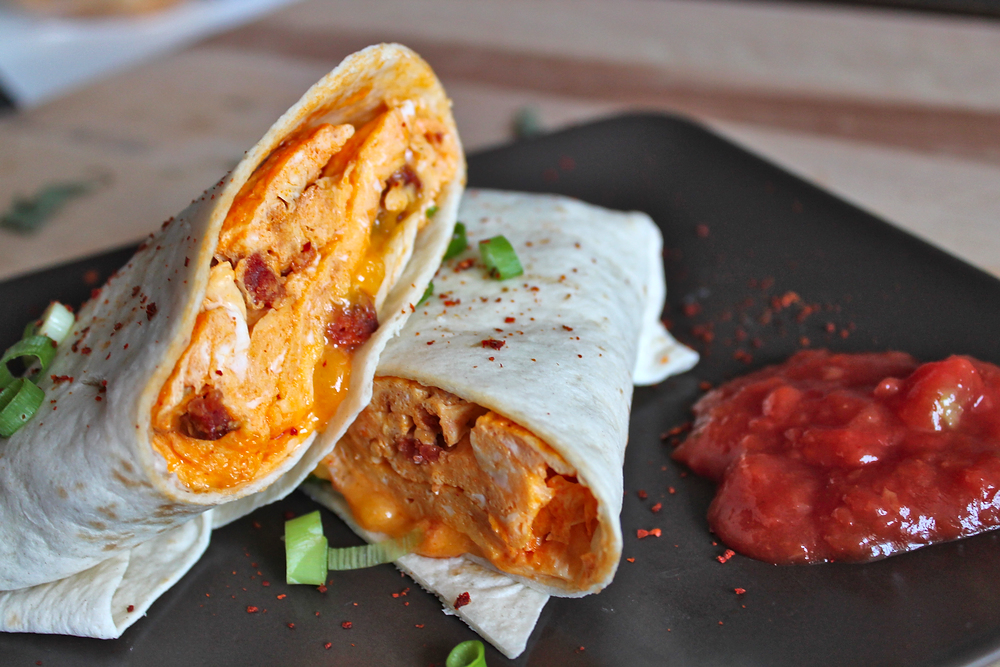 Burrito with Chorizo and Eggs