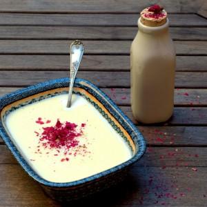 Rose and Almond Pot de Crème