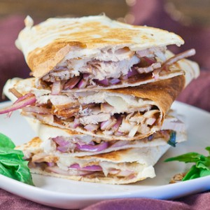 Pork and Balsamic Onion Quesadilla