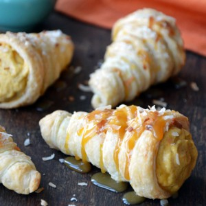 Puff Pastry Cornucopias with Pumpkin-Coconut Mousse