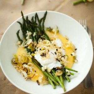 Broiled Asparagus with Poached Egg