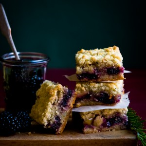 Berry, Apple and Rosemary Shortbread Bars