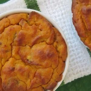 Savory Bacon Butternut Squash Souffle