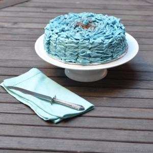 Ruffled Blueberry Chocolate Cake