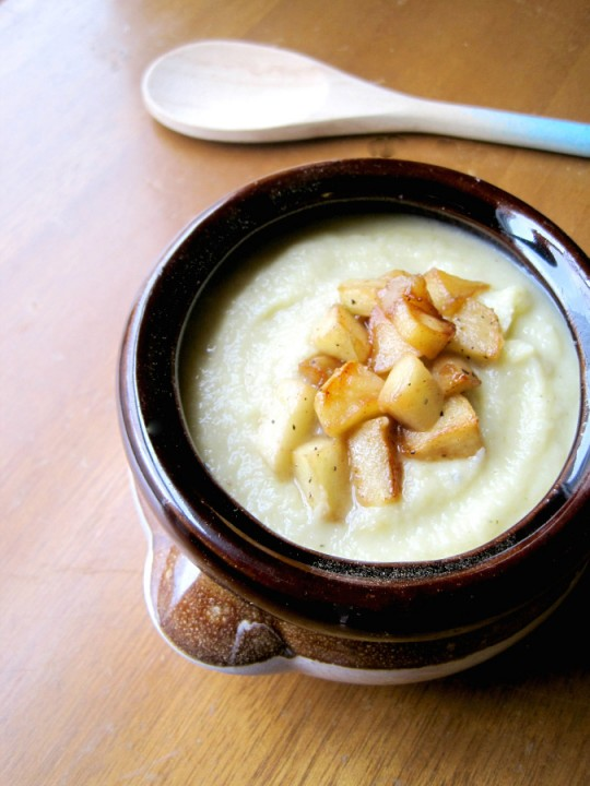 Celery Root Soup with Caramelized Apples
