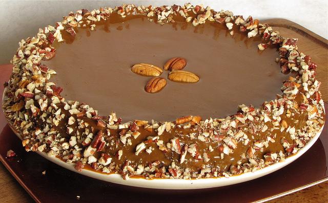 Chocolate Cheesecake with Caramel Ganache