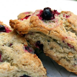 Cranberry Forsythia Scones