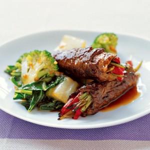Beef and Scallion Rolls