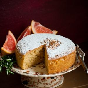 Grapefruit Rosemary Olive Oil Cake