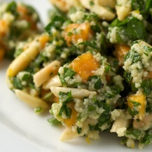 Tabbouleh with Persimmons and Almonds