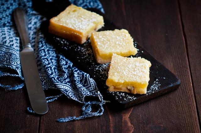 Lemon Bars with Ginger Shortbread