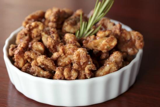 Maple-Rosemary Glazed Walnuts
