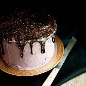 Oreo Olallieberry Chocolate Layer Cake