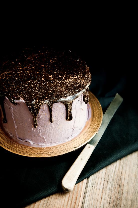 Oreo Olallieberry Chocolate Layer Cake