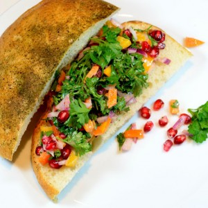 Pomegranate and Sweet Pepper Sandwich