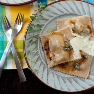 Pumpkin and White Bean Ravioli