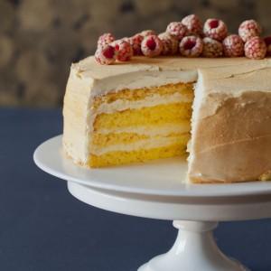 Rose Water Glitter Cake