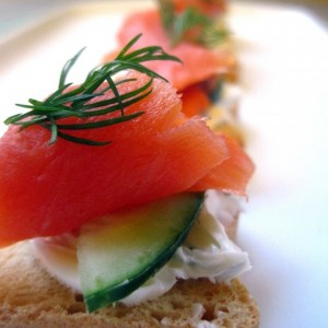 Minature Smoked Salmon Tartines