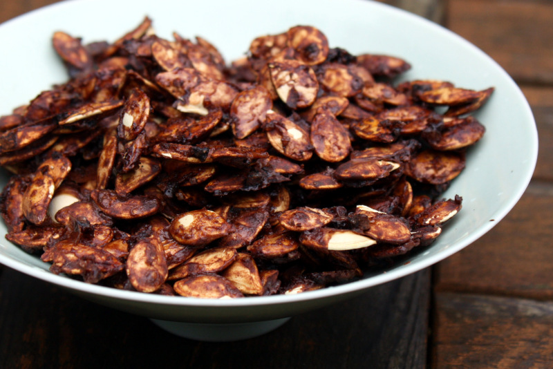Salt and Cocoa Pumpkin Seeds