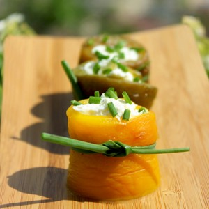 Peppers and Goat Cheese Rolls