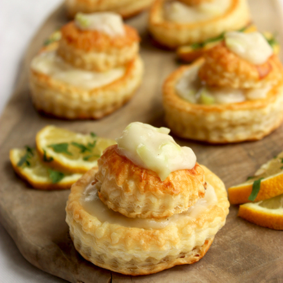 Fish and Leeks Vol-au-Vents