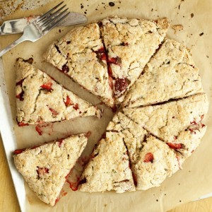 Strawberry Basil Scones