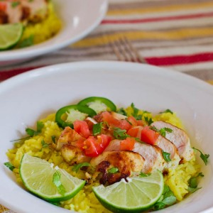 Tequila Lime Chicken with Cilantro Lime Rice