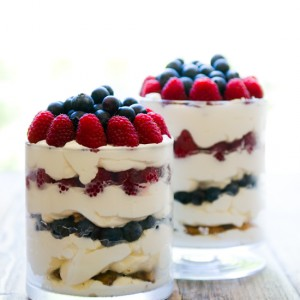 Berries'n'Cream Chocolate Chip Trifle
