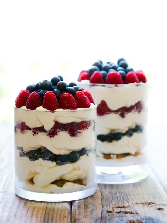 Berries'n'Cream Chocolate Chip Trifle