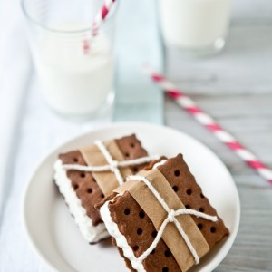 Vanilla Bean Chocolate Ice Cream Sandwiches