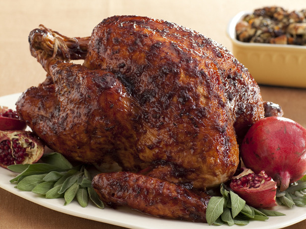 Black Pepper-Pomegranate Molasses Glazed Turkey