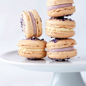 Violet Macarons with Violet and Vanilla Bean Buttercream
