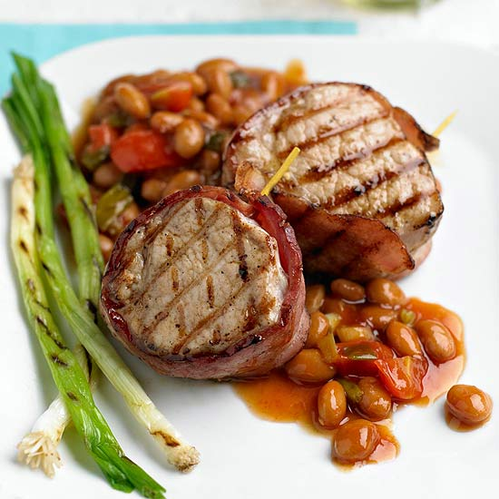 Bacon-Wrapped Pork and Beans