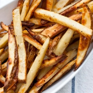 Garlic Salted, Beer Baked French Fries