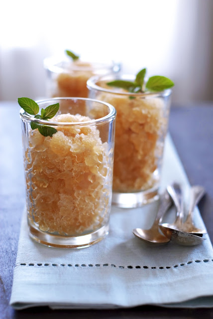 Honey and Mint Sweet Tea Granita