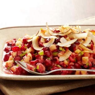 Pineapple Cranberry Relish with Toasted Coconut